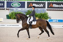 Borja Carrascosa, (ESP), Hicksteadt - Grand Prix Team Competition Dressage - Alltech FEI World Equestrian Games™ 2014 - Normandy, France.<br /> © Hippo Foto Team - Leanjo de Koster<br /> 25/06/14