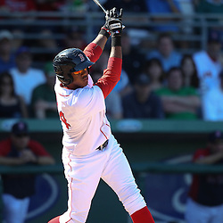 March 12, 2011; Fort Myers, FL, USA; Boston Red Sox third baseman Michael Almanzar (84) during a spring training exhibition game against the Florida Marlins at City of Palms Park. The Red Sox defeated the Marlins 9-2.  Mandatory Credit: Derick E. Hingle