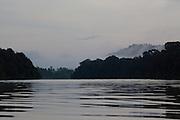 Misty dawn at Kinabatangan River, Sabah