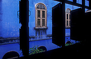Le Maison Blue (The Blue Mansion); a restored Chinese merchant's house,  Penang island.