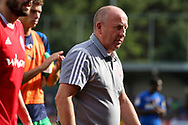 Accrington Stanley manager John Coleman walking off the pitch during the EFL Sky Bet League 1 match between AFC Wimbledon and Accrington Stanley at the Cherry Red Records Stadium, Kingston, England on 17 August 2019.