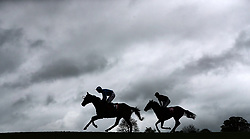 A general view of The Kildare Hunt Club Fr Sean Breen Memorial Steeplechase for the Ladies Perpetual Cup during day one of the Punchestown Festival at Punchestown Racecourse, County Kildare, Ireland.