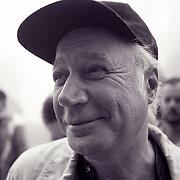 The founder, Eddie Adams, at the 1993 Eddie Adams Workshop for photojournalists held in upstate New York.