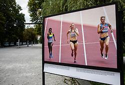Photo of  during Opening ceremony of photo exhibition at 100 years Anniversary of Slovenian Athletic Federation, on September 17, 2020 in Tivoli park, Jakopicevo sprehajalisce, Ljubljana, Slovenia. Photo by Vid Ponikvar / Sportida