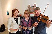 Maresa Ni Rinn Udaras, with  Eibhlín De Paor, Cúige Mumhan, Ealaín na Gaeltachta Teo. and Dermot McLaughlin, CEO, Temple Bar Cultural Trust - Culture Night Director  at the launch of the Gaeltacht Programme for Culture Night.  'Oíche Chultúir' features over 60 free cultural events throughout the Gaeltacht regions on the evening of Friday September 24th. Photo:Andrew Downes. Photo issued with Compiments, no reproduction fee.