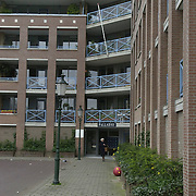 Flatgebouw Palladio Wilhelminaplantsoen Bussum ingang ext.