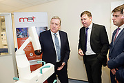 11/07/2017  REPRO FREE:     Minister of State Pat Breen, Department of Enterprise and Innovation Dr. Eugene McCarthy MET Technology Manager GMIT, Dr Rick officer VP for research GMIT  on a list to the iHub and GMIT . Photo:Andrew Downes, xposure .