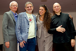 One of the highlights of the 2016 Edinburgh International Festival programme is the highly acclaimed production of Bellini's Norma with left to right Moshe Leiser (Director), Patrice Caurier(Director), Cecilia Bartoli (Norma) and Diego Fasolis(Conductor) at the Festival Theatre, Edinburgh,<br /> 1st August 2016, (c) Brian Anderson | Edinburgh Elite media