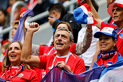 June 22, 2018 - Saint Petersburg, Russia - Costa Rica supporters during the 2018 FIFA World Cup Russia group E match between Brazil and Costa Rica on June 22, 2018 at Saint Petersburg Stadium in Saint Petersburg, Russia. (Credit Image: © Mike Kireev/NurPhoto via ZUMA Press)