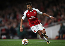 Arsenal's Alexis Sanchez during the Europa League match at the Emirates Stadium, London.
