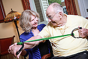 Elderly Gentleman Doing Physical Therapy