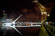 Puerto Madero at night, Buenos Aires, Federal District, Argentina.