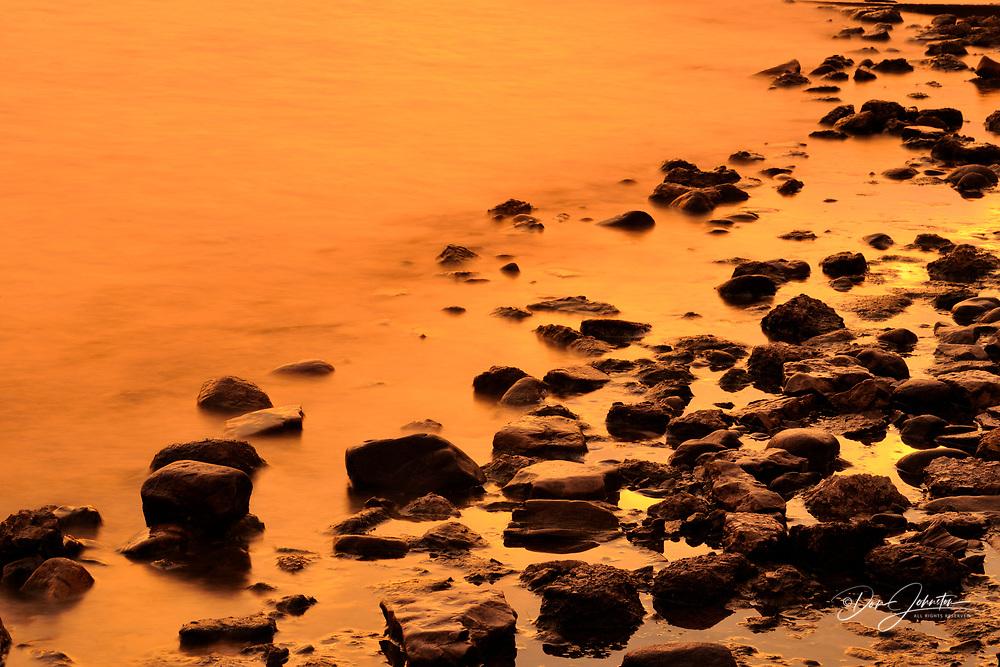 Sunrise skies over Munising Bay, Munising, Michigan, USA