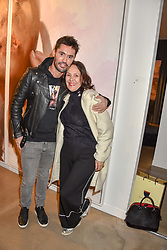 12 December 2019 - Jean-Bernard Fernandez-Versini and Arlene Phillips at a private view of Lethe by Henrik Uldalen at JD Malat Gallery. 30 Davies Street, London.<br /> <br /> Photo by Dominic O'Neill/Desmond O'Neill Features Ltd.  +44(0)1306 731608  www.donfeatures.com