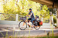 Bruce Clotworthy and Asher on the Ohlone Greenway.