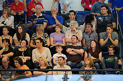 Members of Tom Daley's family, including his two brothers William and Ben, Mum Debbie, Uncle Kevin Selvester, and partner Dustin Lance Black - Photo mandatory by-line: Rogan Thomson/JMP - 07966 386802 - 02/02/2014 - SPORT - DIVING - Southend Swimming & Diving Centre, Southend-on-Sea - British Gas Diving National Cup 2014 Day 3.