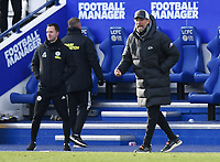 Football - 2020 / 2021 Premier League - Leicester City vs Liverpool - King Power Stadium<br /> <br /> Liverpool manager Jurgen Klopp shouts instructions to his team from the technical area.<br /> <br /> COLORSPORT/ASHLEY WESTERN