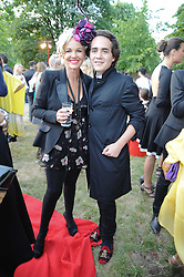 AMANDA ELIASCH and her son CHARLIE ELIASCH at the annual Serpentine Gallery Summer party this year sponsored by Jaguar held at the Serpentine Gallery, Kensington Gardens, London on 8th July 2010.  2010 marks the 40th anniversary of the Serpentine Gallery and the 10th Pavilion.