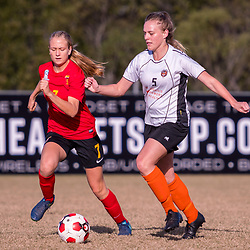 BRISBANE, AUSTRALIA - JUNE10:  during the round 10 PlayStation 4 National Premier Leagues Queensland match between Eastern Suburbs and Sunshine Coast Fire on June 10, 2017 in Brisbane, Australia. (Photo by Patrick Leigh Perspectives)