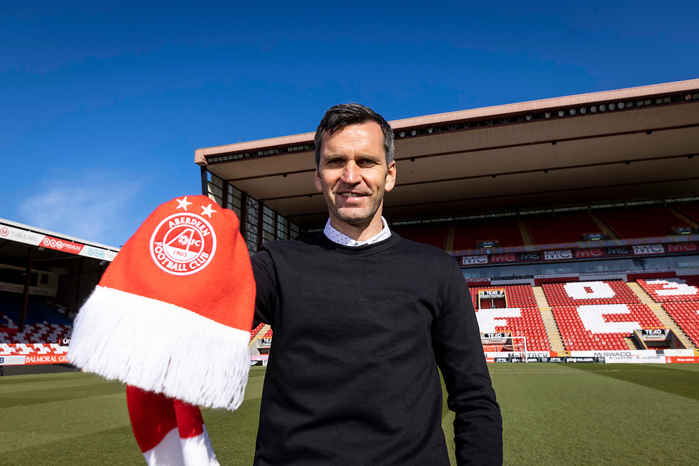 ABERDEEN FC NEW MANAGER MEETS THE MEDIA AFTER STARTING NEW JOB<br /> <br /> PIC OF STEPHEN GLASS AT PITTODRIE STADIUM <br /> \<br /> PIC DEREK IRONSIDE / NEWSLINE MEDIA