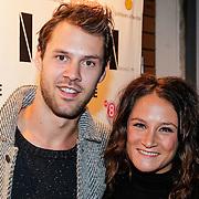 NLD/Amsterdam/20121001- Uitreiking Bachelorette List 2012, Saar Koningsberger en partner Max