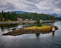 Route Marker 37 in Wrangell Narrows. Image taken with a Nikon D300 camera and 70-300 mm VR lens.