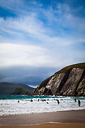People on Coumeenoole Beach, Slea Head, Dingle Peninsula, Kerry, Ireland