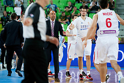 Serbian players during basketball match between National teams of France and Serbia in 2nd Round at Day 12 of Eurobasket 2013 on September 14, 2013 in SRC Stozice, Ljubljana, Slovenia. (Photo By Urban Urbanc / Sportida)