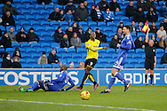Burton Albion striker Marvin Sordell (9)  during the EFL Sky Bet Championship match between Cardiff City and Burton Albion at the Cardiff City Stadium, Cardiff, Wales on 21 January 2017. Photo by Richard Holmes.