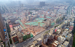 August 7, 2017 - Zhengzhou, Zhengzhou, China - Zhengzhou, CHINA-August 7 2017: (EDITORIAL USE ONLY. CHINA OUT) ..The biggest 'village in city' in Zhengzhou is demolished in central China's Henan Province. (Credit Image: © SIPA Asia via ZUMA Wire)