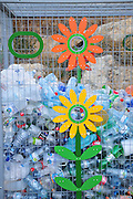Plastic bottle recycling bin Photographed in Israel