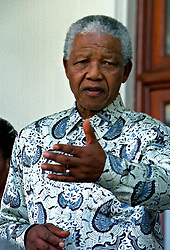 Aug 20, 1998; Cape Town, South Africa; President NELSON MANDELA on the steps of Tuynhuis.  (Credit Image: © Sasa Kralj/JiwaFoto/ZUMAPRESS.com)