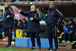 (l-r) coach Dick Advocaat of Holland, assistant trainer Ruud Gullit of Holland during the friendly match between Romania and The Netherlands on November 14, 2017 at Arena National in Bucharest, Romania