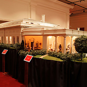 A scale model of the real White House is on display at the Reagan Library in Simi Valley, California
