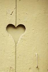 Jul. 25, 2012 - Heart shape in door (Credit Image: © Image Source/ZUMAPRESS.com)