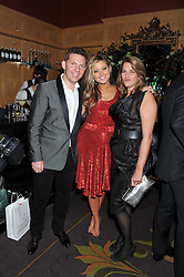 Left to right, NICK CANDY, HOLLY VALANCE and TRACEY EMIN at the 39th birthday party for Nick Candy in association with Ciroc Vodka held at 5 Cavindish Square, London on 21st Januatu 2012.