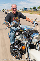Gregory Mann on the annual Michael Lichter - Sugar Bear Ride hosted by Jay Allen from the Easyriders Saloon during the Sturgis Black Hills Motorcycle Rally. SD, USA. Sunday, August 3, 2014.  Photography ©2014 Michael Lichter.