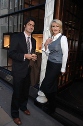 LADY COSIMA SOMERSET and VISCOUNT CASTLEREAGH at a party to celebrate the publication of 'Young Stalin' by Simon Sebag-Montefiore at Asprey, New Bond Street, London on 14th May 2007.<br /><br />NON EXCLUSIVE - WORLD RIGHTS