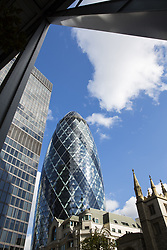 Jan. 13, 2015 - Canary Wharf, Gherkin, St Andrew Undershaft, London, England (Credit Image: © Image Source/Image Source/ZUMAPRESS.com)