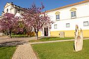 Frontage of University of Evora building, City of Evora, Alto Alentejo, Portugal, Southern Europe,