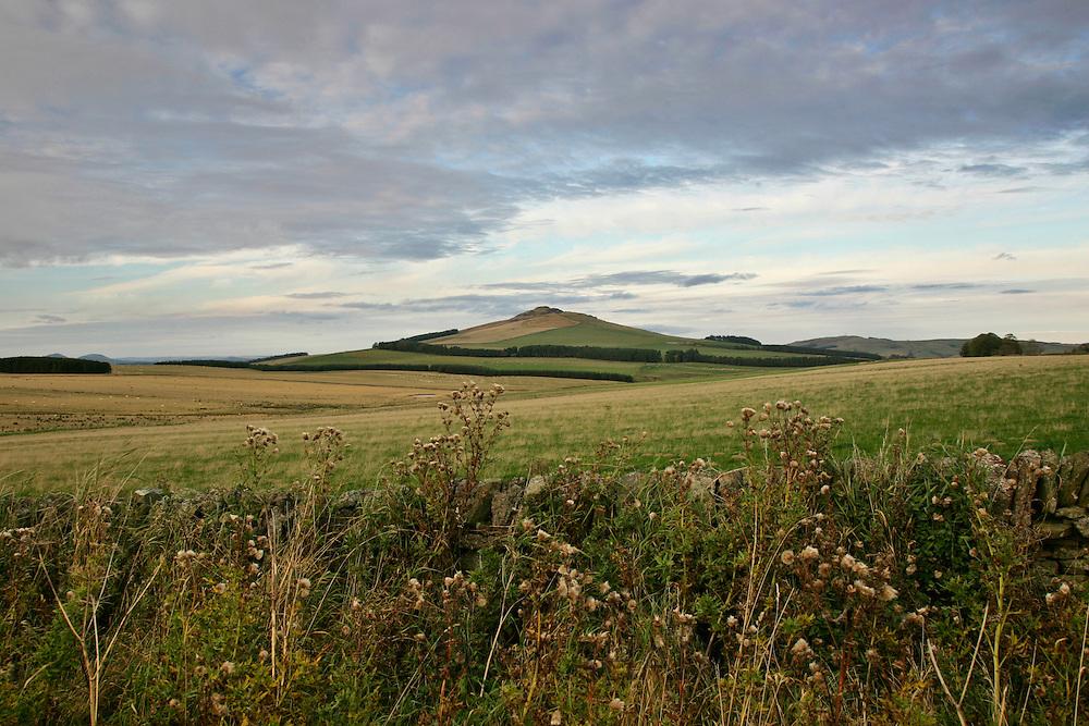 Landscape of Northumberland, England, United Kingdom