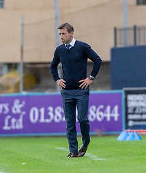 Dundee's manager Neil McCann  after Scofian Moussa gets a red card after tackling Ayr United's Mark Kerr. Dundee 0 v 3 Ayr United, Scottish League Cup Second Round, played 18/8/2018 at the Kilmac Stadium at Dens Park, Scotland.