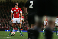 James Hook of Wales lines up a penalty kick.Invesco Perpetual series 2008 autumn international match, Wales v New Zealand at the Millennium Stadium on Sat 22nd Nov 2008. pic by Andrew Orchard, Andrew Orchard sports photography,