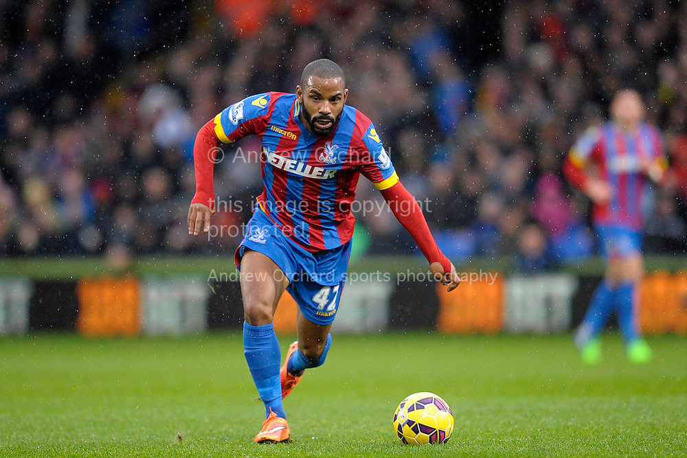 Jason Puncheon of Crystal Palace on the ball. Barclays Premier league match, Crystal Palace v Liverpool at Selhurst Park in London on Sunday 23rd November 2014.<br /> pic by John Patrick Fletcher, Andrew Orchard sports photography.