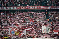 28.04.2015, Allianz Arena, Muenchen, GER, DFB Pokal, FC Bayern Muenchen vs Borussia Dortmund, Halbfinale, im Bild Fanblock Fankurve FCB Suedkurve Flaggen Fahnen // during German DFB Pokal semifinal match between FC Bayern Munich and Borussia Dortmund at the Allianz Arena in Muenchen, Germany on 2015/04/28. EXPA Pictures © 2015, PhotoCredit: EXPA/ Eibner-Pressefoto/ Weber<br /> <br /> *****ATTENTION - OUT of GER*****