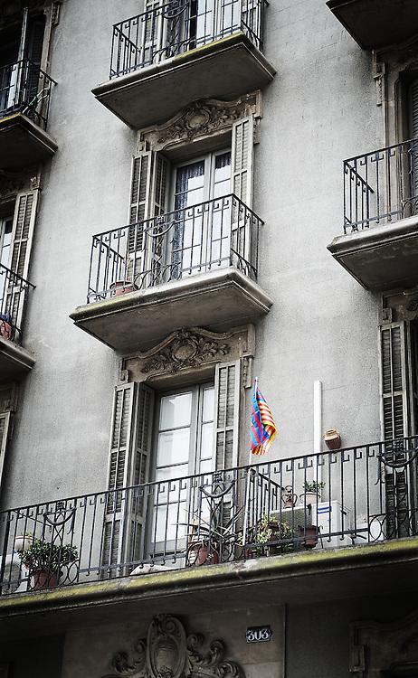 vlag op Balkon