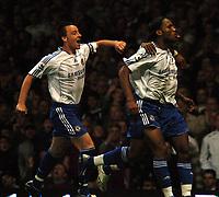 Photo: Tony Oudot.<br /> West Ham United v Chelsea. The Barclays Premiership. 18/04/2007.<br /> Chelsea celebrate Salomon Kalous goal