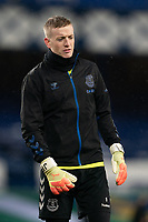 Football - 2020 / 2021 League Cup - Quarter-Final - Everton vs Manchester United - Goodison Park<br /> <br /> <br /> Everton Jordan Pickford during the pre-match warm-up <br /> <br /> COLORSPORT/TERRY DONNELLY