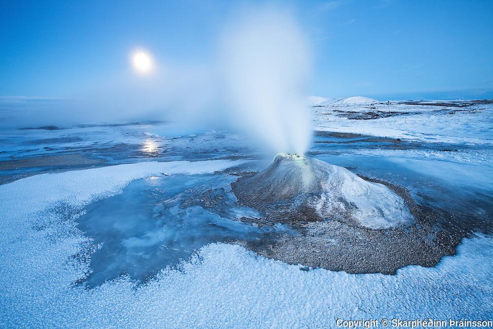 Hveravellir under a blue moon, central highlands Iceland
