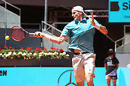 John Isner of USA during the Mutua Madrid Open 2021, Masters 1000 tennis tournament on May 7, 2021 at La Caja Magica in Madrid, Spain - Photo Laurent Lairys / ProSportsImages / DPPI